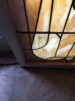 Sg 441 Antique Stainglass Landing Window Keyhole Design
