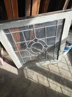 Sg 655 Three Available Price Each Antique Portable Windows Leaded Glass 6
