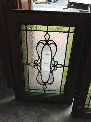 Sg 904 Matched Pair Antique Stainglass Windows 2