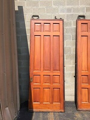 D2 26 One Pair Antique Cherry Pocket Doors 80 Inch Wide By 105 Hi 8