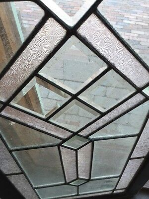 Sg 620 Antique Textured And Beveled Glass Transom Window 8