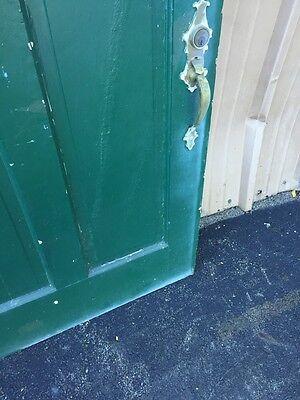 Cm 86 Antique Wood Raised Panel Entrance Door 35 Three-Quarter Inch By 79 5/8 5