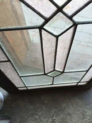 Sg 620 Antique Textured And Beveled Glass Transom Window 9