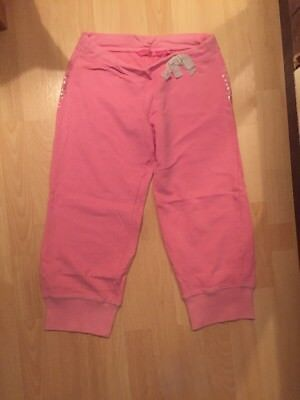 Debenhams Pineapple Age 14 Years Cropped Jogging Bottoms Trousers Workout Pink 3