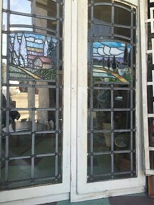 Arts And Crafts Craftsman Style  Leaded Stained Glass Windows 8