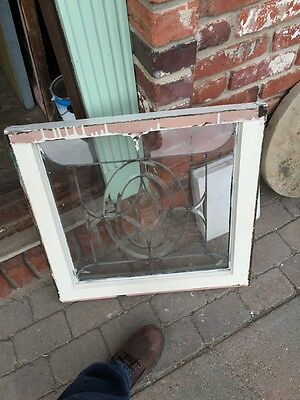 Sg 312  4 Available Priced Separately Antique Beveled Glass Windows 3