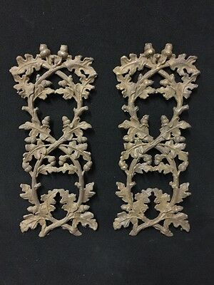 Vintage Iron Wall Or Garden Panels Of Leaves And Acorns