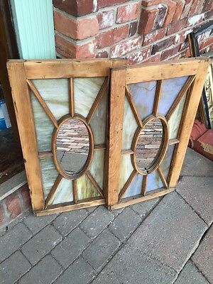Sg 319 Two Available Price Separate Queen Antique Stainglass Windows 5