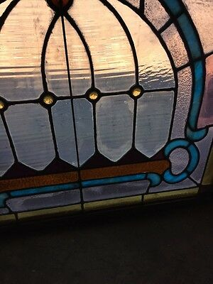 Sg 784 Antique Pastel Window With Round Jewels 7