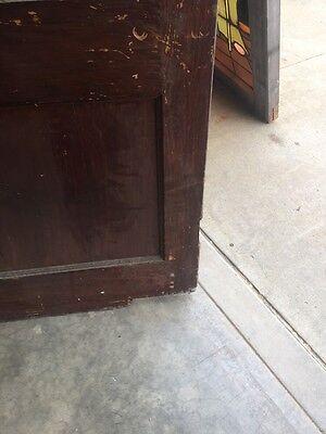 D202 Antique Swing Door With Textured Glass 29 Inch 79 Inch 12