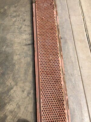 "Rt 5 2 Available Priced Each Antique Cast-Iron Radiator Cover 61"" X 10"""