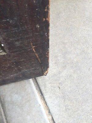 D202 Antique Swing Door With Textured Glass 29 Inch 79 Inch 5