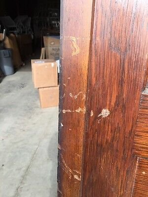 R D 23 One Antique Oak Raise Panel Pocket Door