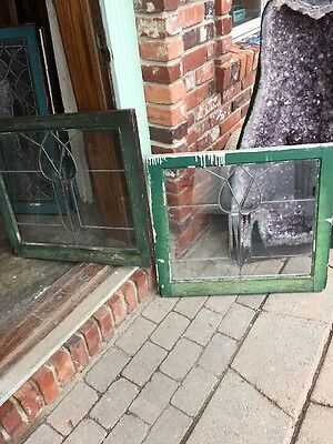 Sg 975 2 Available Price Separate Antique Beveled Glass Leaded Glass Window