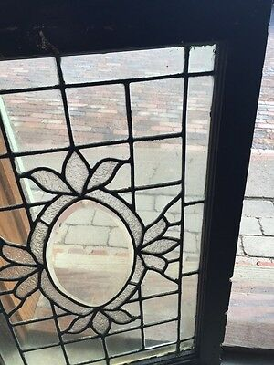 Sg 564 Antique Textured Glass Oval Beveled Glass Window 3