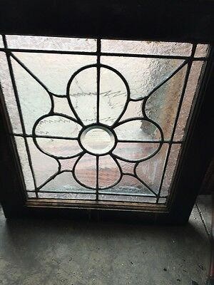 Sg 370 Matched Pair Antique Leaded Glass Textured Glass Windows 3