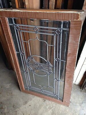 Sg 185 Antique Arts And Crafts Stainglass Window 5
