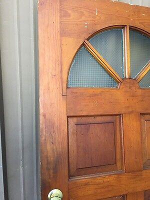 Cm 86 Antique Wood Raised Panel Entrance Door 35 Three-Quarter Inch By 79 5/8 9