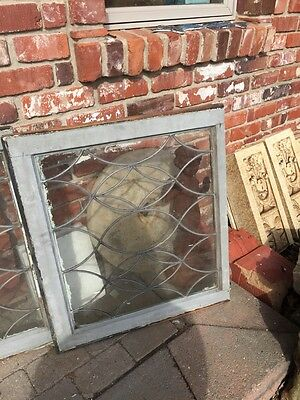 Sg 657 Antique Leaded Glass Window Two Available Priced Each 10