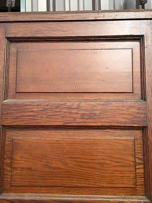 R D 23 One Antique Oak Raise Panel Pocket Door 9