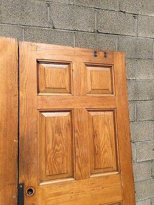 Cm 22 One Pair Antique Very Heavy Raise Panel Oak Entrance Doors 4
