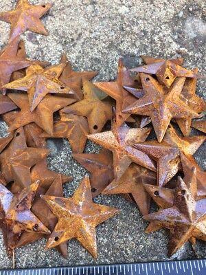 "Set 20  Rusty Stars 10- 2.25"" & 10- 1.5"" Country Metal Barn Star Craft Supplies 6"