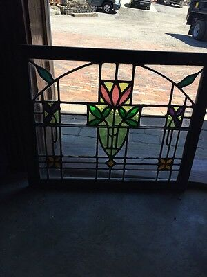 Sg 782 Four Available Price Separate Antique Stainglass Windows 4