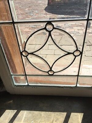 Sg 730 Antique Beveled Glass Window With 4 Jewels