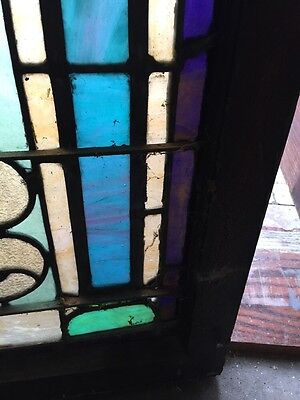 "Sg 403 Antique Stainglass Landing Window 27 In 0.125"" X 44.5"" Tall 7"