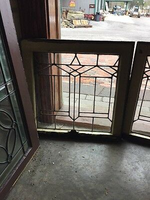 Sg 1281 2Available Price Separate Antique Leaded Glass Window 22.2 5W By 21. 5H