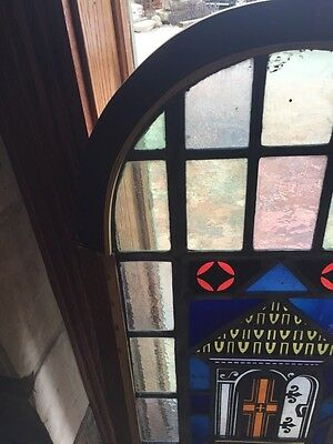 Sg 697 Antique Painted In Fired Open Door Alter Window 2