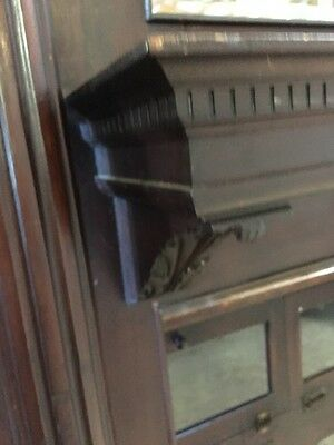 A 2 Antique Fireplace Mantel Oak Carved 5