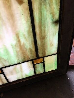 Sg 404 Arts And Crafts Antique Stainglass Window 4