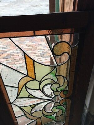 Sg 308 Two Available Price Each Antique Stained And Double Glass Transom Windows 5