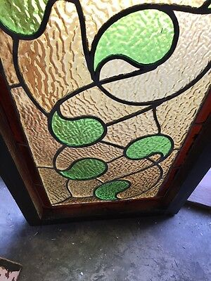 Sg 382 Antique Stainglass Window Green Waves 4