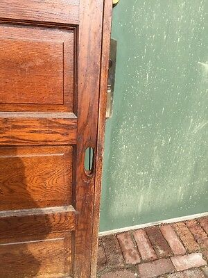 R D 23 One Antique Oak Raise Panel Pocket Door 3