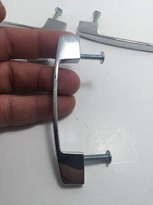 """Set Of 4 Metal Drawer Door Pulls 3"""" Between Screws"""