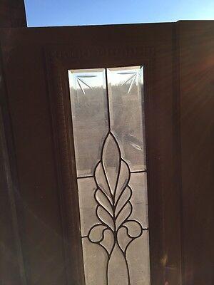 Bg 199 One Pair Antique Beveled Glass Sidelights Or Transom Windows 2