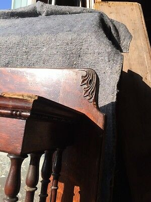 Bb3 Antique Spindle Carved Oak Fireplace Mantel Quartersawn 7