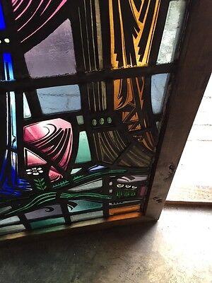 Sg 624 Very Beautiful Antique Religious Figure Window 4 Figures 7