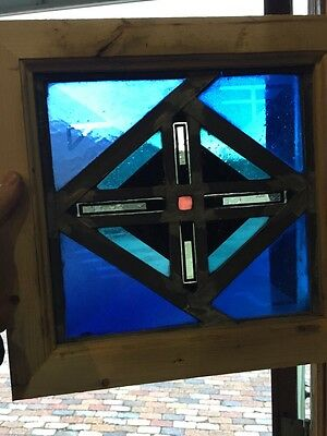 Sg 392 Antique Painted In Fired Crisscross Design Window