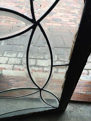 Sg 538 All Beveled Glass Transom Window Antique 5