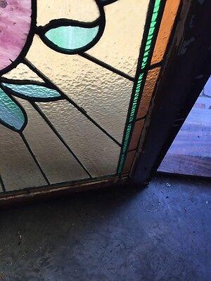 Sg 520 Antique Stainglass Window Transom Ray Of Sunshine 7