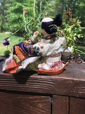 Antique Japanese Musha Ningyo Warrior Doll Boy's Day Festival Yoshitune Meiji 6