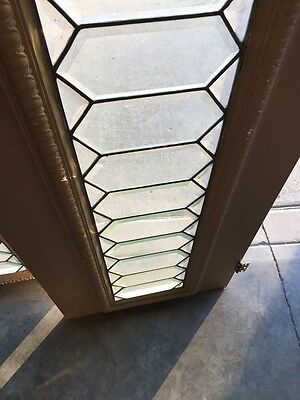 Bg 2 2 Available All Beveled Glass Transom Windows Geometric Antique 9