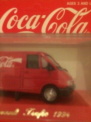 camion metal renault trafic1994 avec pub coca cola 1/43 2