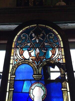 Sg 439 Antique Figural Window Man Holding Keys 2