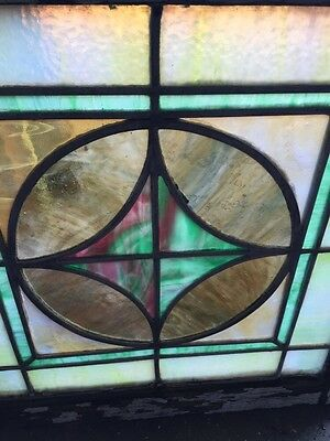 "Sg 593 Antique 20"" X 20"" Pastel Stainglass Window 3"