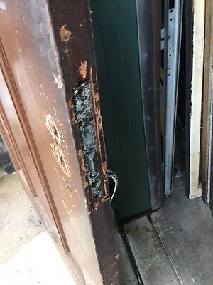 "Teen 53 Antique Victorian Entrance Door Double Glass Wheel Cut Center 40 3/4"" 10"