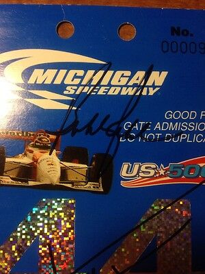 Greg Moore, Gil de Ferran, Bobby Rahal Signed 1997 Michigan Speedway Ticket Stub 5
